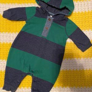 0-3M baby GAP Long Sleeve Striped One Piece